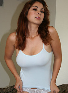 Horny Mia Loves To Play With Her Big Tits - Picture 1