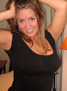 Mandys Huge Perky Perfect Tits Are Barely Covered By Her Bright Red Bra - Picture 2
